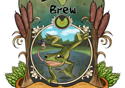 Beer themed around frogs and bogs