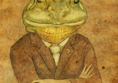 Frog in a business suit
